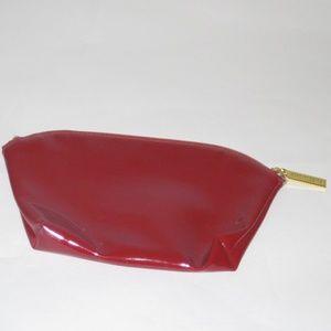 ESTEE LAUDER Glossy Maroon Cosmetic Bag